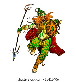 celtic warrior vector illustration