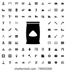 Cement bag icon. set of filled construction icons.