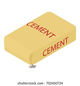 Cement icon. Isometric illustration of cement vector icon for web