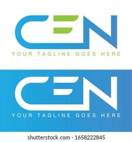 CEN letter logo for your design