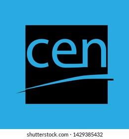 CEN standards sign. Blue icon