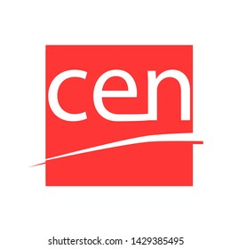 CEN standards sign. red icon