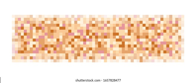 Censor pixeled bar. Nudity skin or sensitive text adult content cover. Abstract censorship blurred mosaic beige pattern. Vector illustration for photo, app or tv.