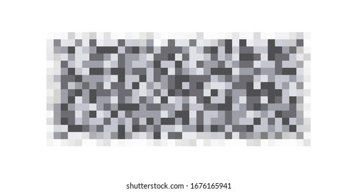 Censor pixeled bar pattern. Nudity skin or sensitive text adult content cover. Abstract censorship blurred mosaic black box. Vector illustration for photo, app or tv.