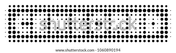 Censored Caption halftone vector pictogram. Illustration style is dotted iconic Censored Caption icon symbol on a white background. Halftone matrix is round elements.