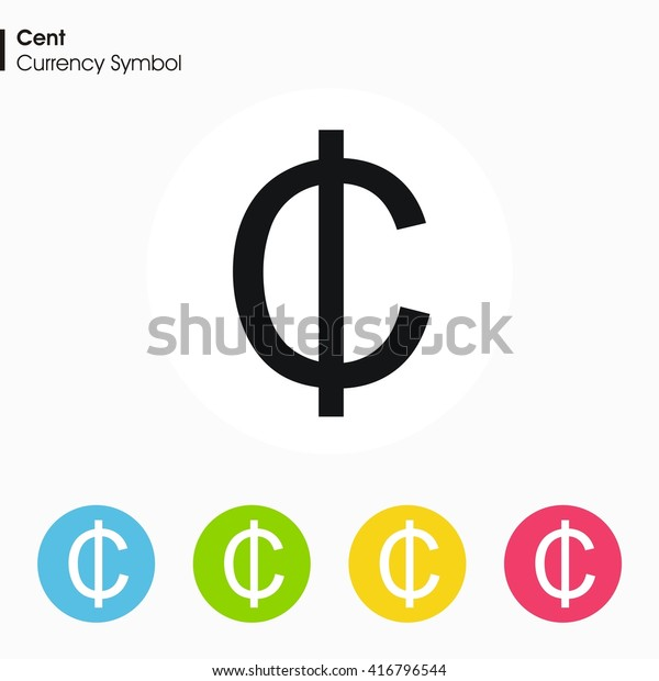 Cent sign icon.Money symbol. Vector illustration.