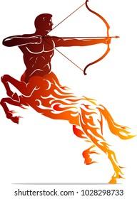 Centaur Flame Tattoo