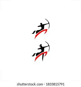 centaur logo archer jump design