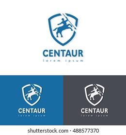 Centaur logotype template vector design.