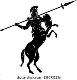 Centaur Spear Aim High Silhouette