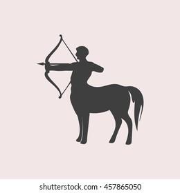Centaur web icon. Isolated illustration
