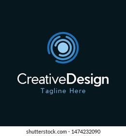 Center Circular Networking Creative Logo