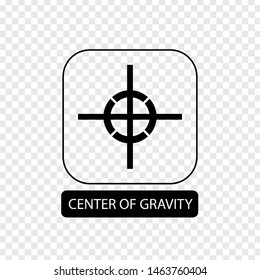 Center of gravity sign. Flat packaging symbol. Mail box icon isolated on transparent background. Mail icon. Vector illustration