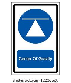 Center Of Gravity Symbol Sign,Vector Illustration, Isolated On White Background Label. EPS10