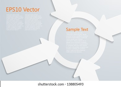 center stage concept, eps10 vector background