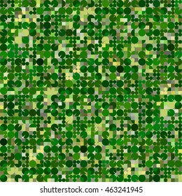 Center-pivot irrigation circular fields. Agricultural seamless pattern. Generative vector texture looking like aerial or satellite imagery