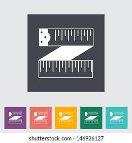 Centimetr flat icon. Vector illustration EPS.