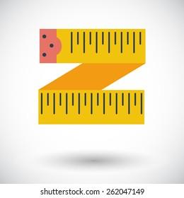 Centimetr. Single flat icon on white background. Vector illustration.