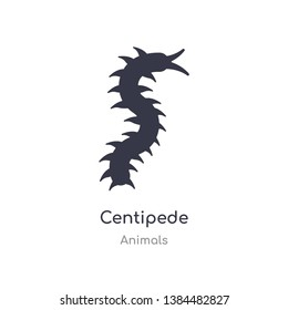 centipede icon. isolated centipede icon vector illustration from animals collection. editable sing symbol can be use for web site and mobile app