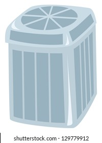 A central air conditioning unit drawn as a cartoon.