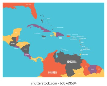 Imágenes, fotos de stock y vectores sobre Mapa Del Caribe | Shutterstock
