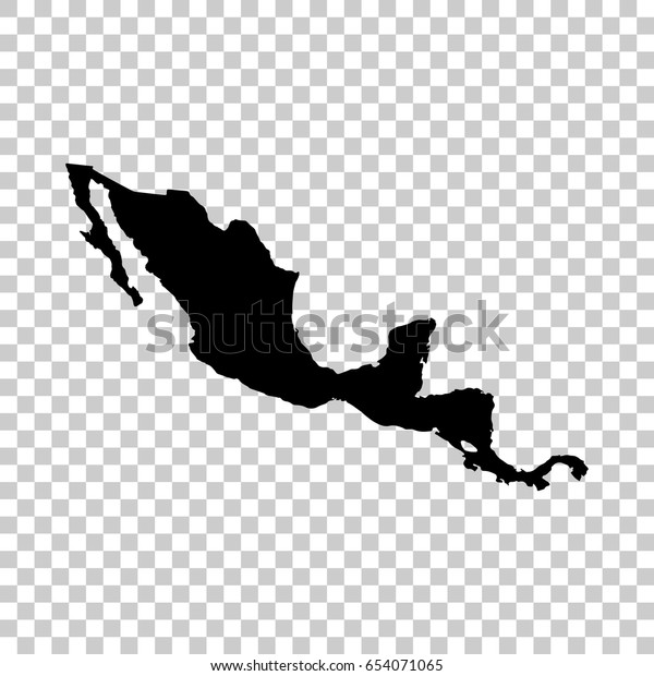 Central America Map Isolated On Transparent Stock ...