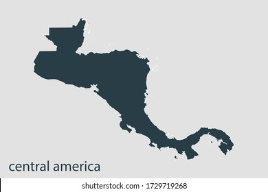 central america map vector, Abstract design vector illustration Eps 10. Navy color.High Detailed on white background.