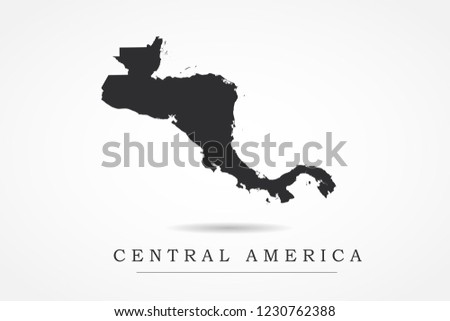 Central America Map World Map International Stock Vector Royalty