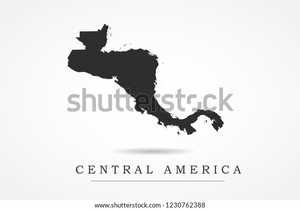 Central America Map World Map International Stock Vector ...
