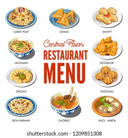 Central Asian food cuisine traditional dishes