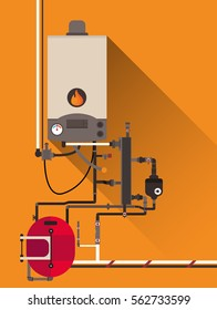 Central heating with Gas boiler