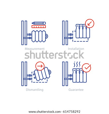 Central Heating Radiator Replacement Installation Services Stock ...