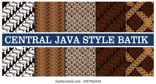 central java style batik pattern , vector illustration