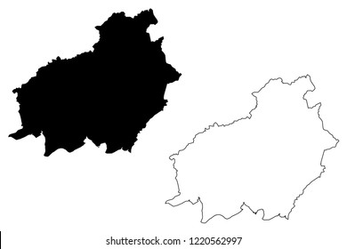 Central Kalimantan (Subdivisions of Indonesia, Provinces of Indonesia) map vector illustration, scribble sketch Central Kalimantan map
