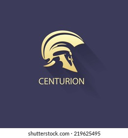 centurion warrior helmet logo design element- security business visual identity