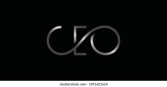 CEO logo isolated on black background