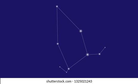 Cepheus constellation vector design