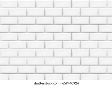 Ceramic brick tile wall. Vector illustration. Eps 10.