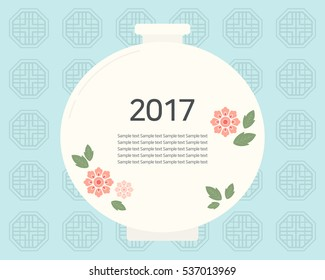 Ceramic illustration. New year card.
