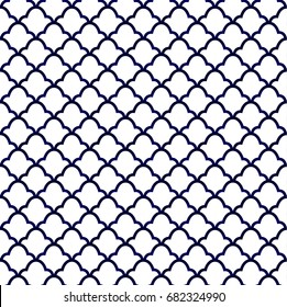 ceramic Thai pattern, Seamless porcelain indigo blue and white simple art decor vector, porcelain background, chinaware vector design
