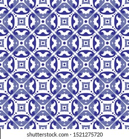 ceramic tile pattern, porcelain seamless modern background, blue and white decorative wallpaper decor, Portugal ornament, Moroccan mosaic, pottery folk print, Spanish tableware, vintage tiled design