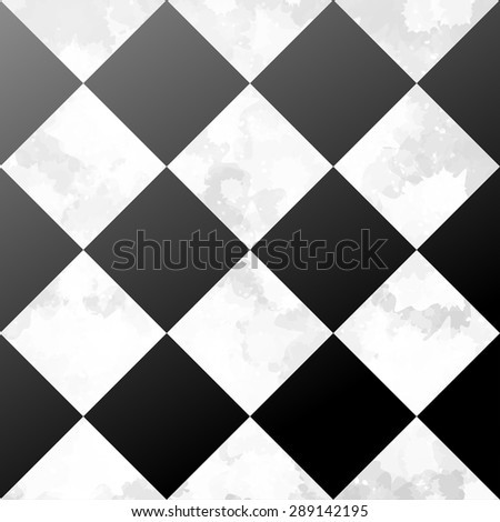 Ceramic Tiles Black White Floor Grunge Stock Vektorgrafik