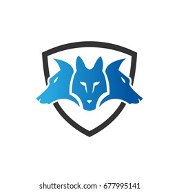Cerberus icon , three head dog icon. Mythical animal of old times. Designed in vector format.