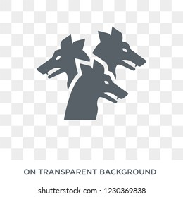 Cerberus icon. Trendy flat vector Cerberus icon on transparent background from Fairy Tale collection.