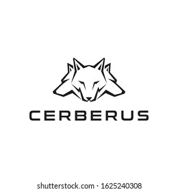 cerberus logo design concept elemen