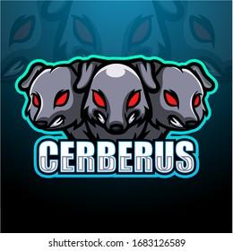 Cerberus mascot esport logo design