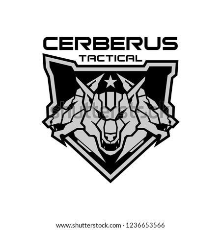 CERBERUS TACTICAL LOGO」のベクター画像素材(ロイヤリティ