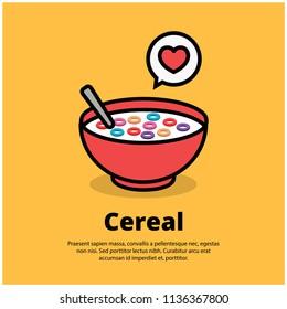 Cereal Bowl Vector Illustration