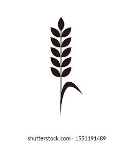 Cereals icon template color editable. Wheat Agriculture symbol vector sign isolated on white background. Simple logo vector illustration for graphic and web design.