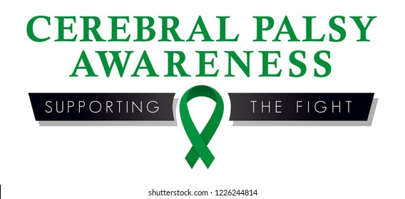 Cerebral Palsy Awareness Ribbon, Logo to Promote Awareness and Health Education, Cerebral Palsy Symbol for Fundraising and Social Media Campaigns, Vector Graphic